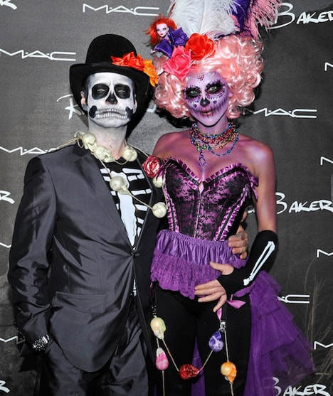 Jason and Naomi Priestley MAC Rick Baker collection swatches and photos from the Monster Mash (aka the best Halloween bash EVER!)