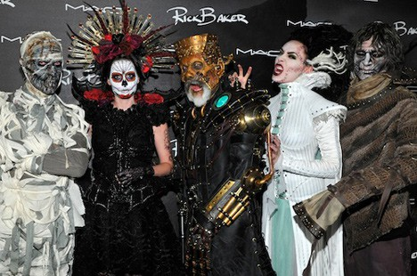 Rick Baker and models MAC Rick Baker collection swatches and photos from the Monster Mash (aka the best Halloween bash EVER!)