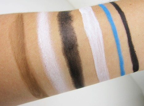 MAC rick baker swatches