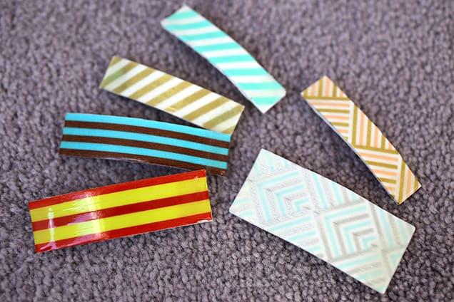 DIY: Washi Tape Barrettes