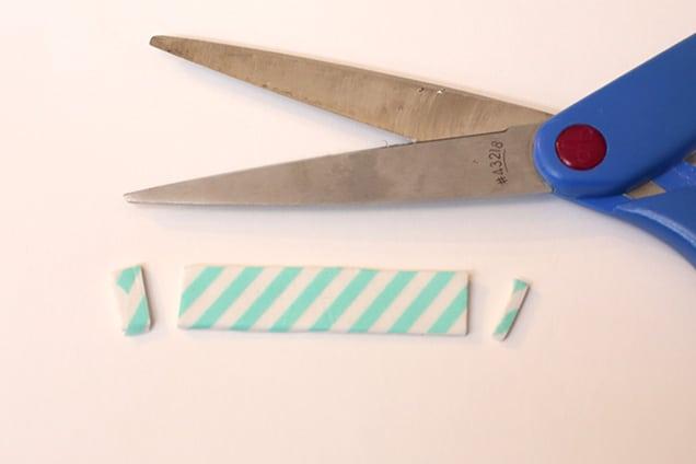 diywashitapebarrettes step2 DIY: Washi Tape Barrettes