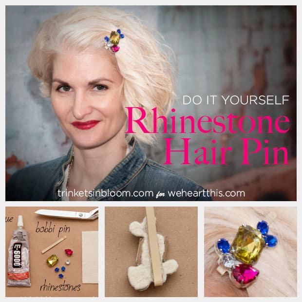 DIY-rhinestone-hair-pin