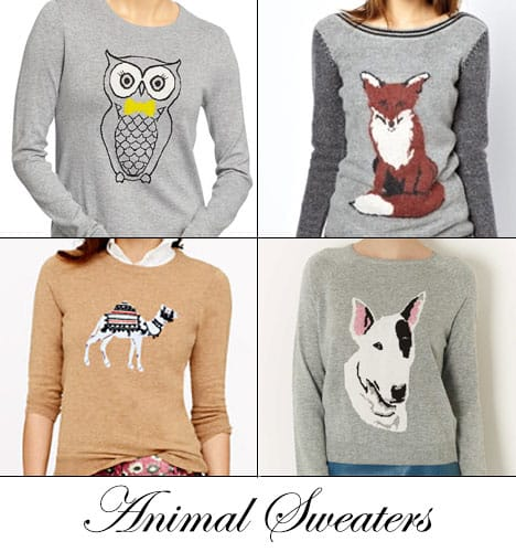 wht animalsweaters Animal Sweaters   Not Just for Crazy Cat Ladies