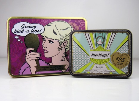 Benefit Luv It Up Benefit Cosmetics Luv It Up and Groovy Kind a Love Palettes   swatches and review