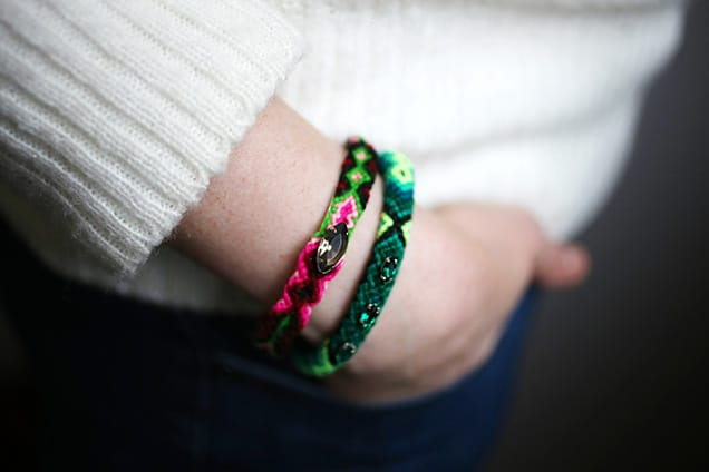 diyfriendshipbangles done5 DIY Jewelry:  Friendship Bangle Bracelets