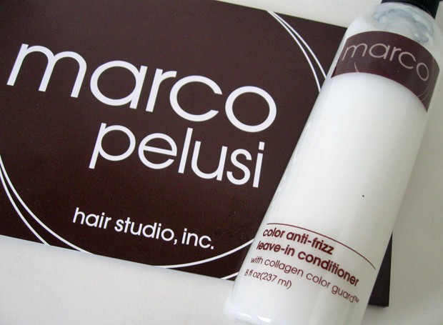 Marco Pelusi Leave In Treatment Marco Pelusi Hair Studio and Hair Care Products   Photos and Review