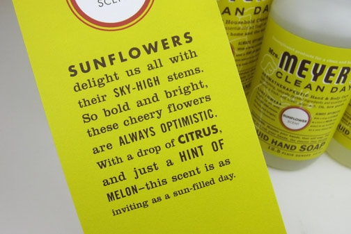 Mrs Meyers Sunflower 4 Mrs. Meyers Sunflower Products Review