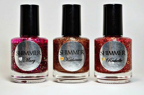 Shimmer Polish 2 Shimmer Polish: Katherine, Rochelle and Mary   swatches and review