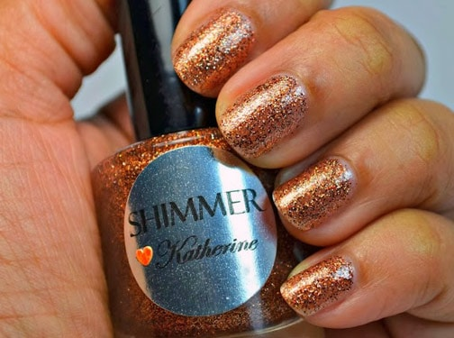 Shimmer Polish Katherine 1 Shimmer Polish: Katherine, Rochelle and Mary   swatches and review