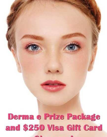 GIVEAWAY: 5 derma e products and a $250 Visa Gift Card!