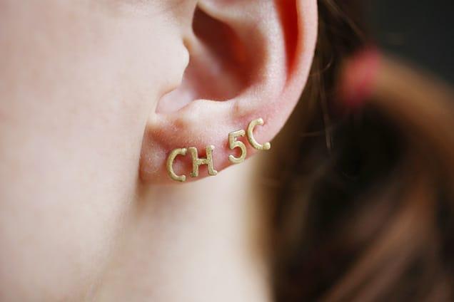 diyalphabetearrings done1 DIY Jewelry: Alphabet Pasta Stud Earrings