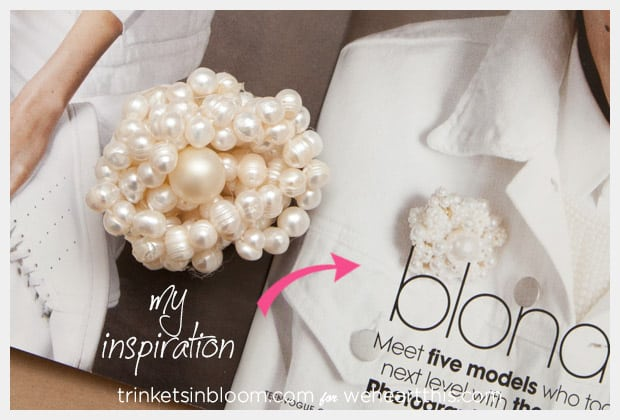 DIY Jewelry Twisted Pearl Brooch