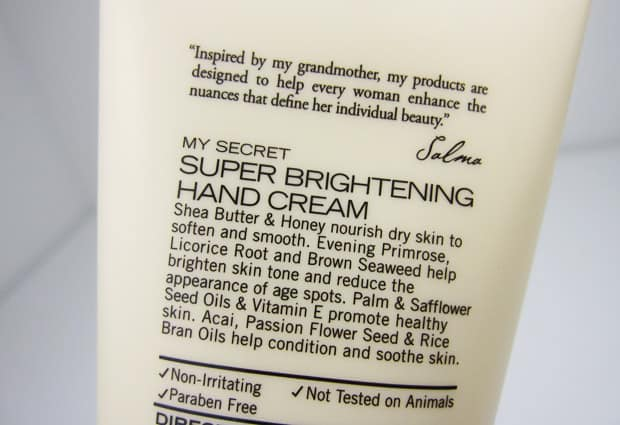 Nuance Super Brightening Hand Cream 3 Nuance Salma Hayek: Top Three Must Haves