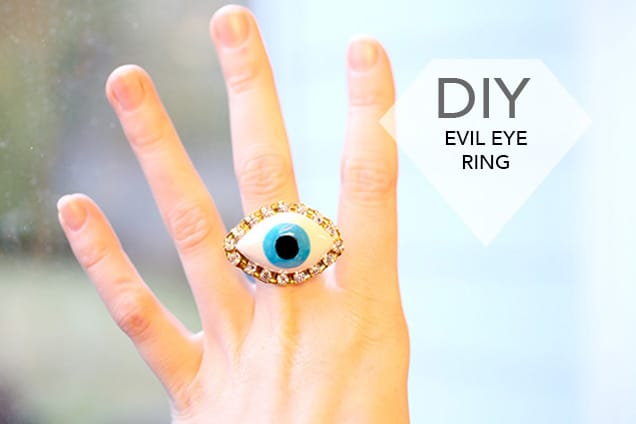 diy evil eye ring introphoto DIY Jewelry: Evil Eye Ring