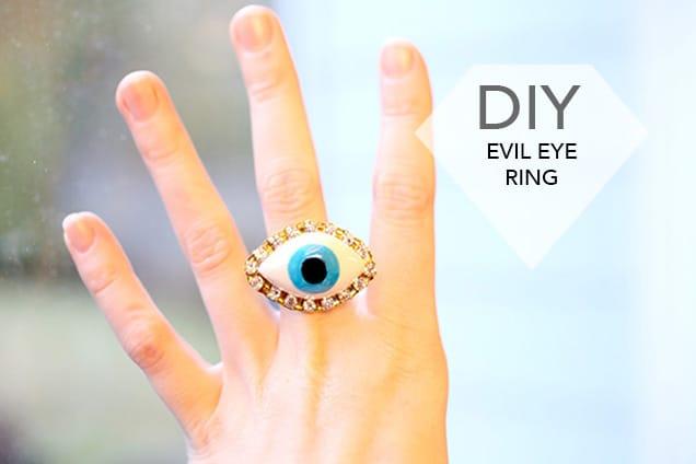 DIY Jewelry: Evil Eye Ring
