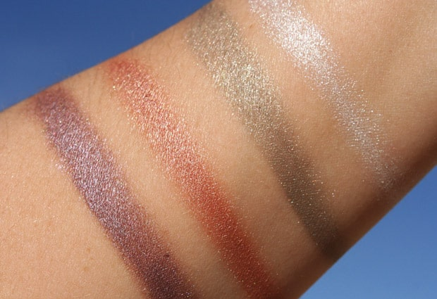 Covergirl Bombshell shineshadow swatches 5 COVERGIRL Bombshell Shineshadow   Swatches and Review