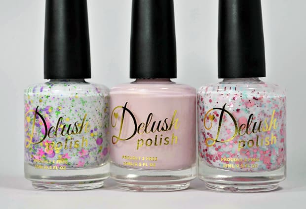 Delush Bottle Shots 1 Delush Polish XO Collection   swatches and review