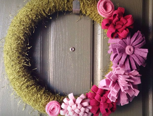 DIY Sweater Wreath 08.18.20 DIY Home Decor: Felted Sweater Spring Wreath