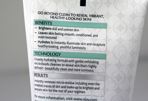 olay regenerist luminous 4A cleanser Olay Regenerist Luminous   Swatches and Review