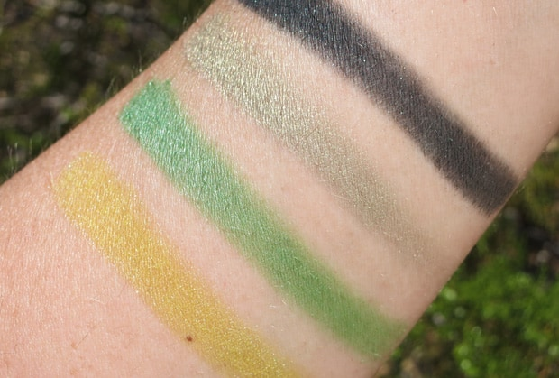 MAC-the-simpsons-12-that-trillion-dollar-look-quad-swatches mac eyeshadow swatches
