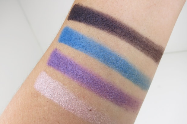MAC-the-simpsons-14-Marges-Extra-Ingredients-Quad-swatches mac eyeshadow swatches