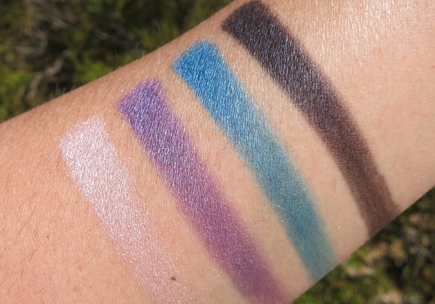 MAC-the-simpsons-15-Marges-Extra-Ingredients-Quad-swatches mac eyeshadow swatches