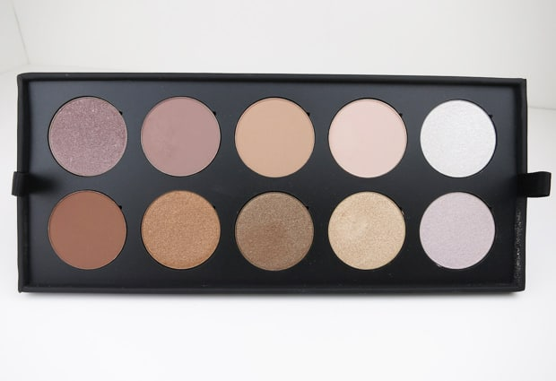 Make Up For Ever 30 Year artist shadow palette 8 MAKE UP FOR EVER artist shadow palette review