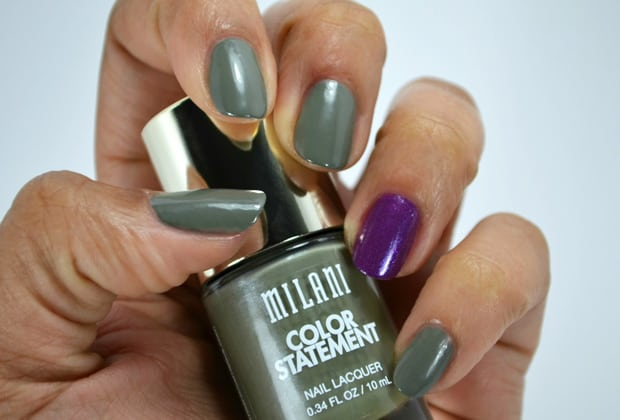 Milani Color Statement Nail lacquer Grey and purple Milani Color Statement Nail Lacquer Collection: Swatches and Review