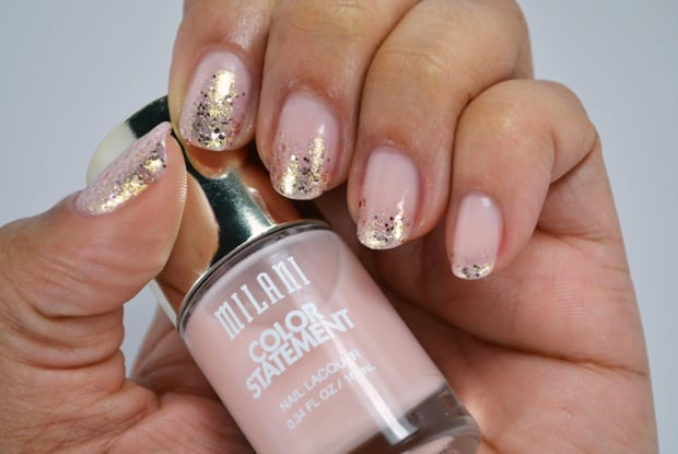 Milani Color Statement Nail lacquer pink glitter Milani Color Statement Nail Lacquer Collection: Swatches and Review