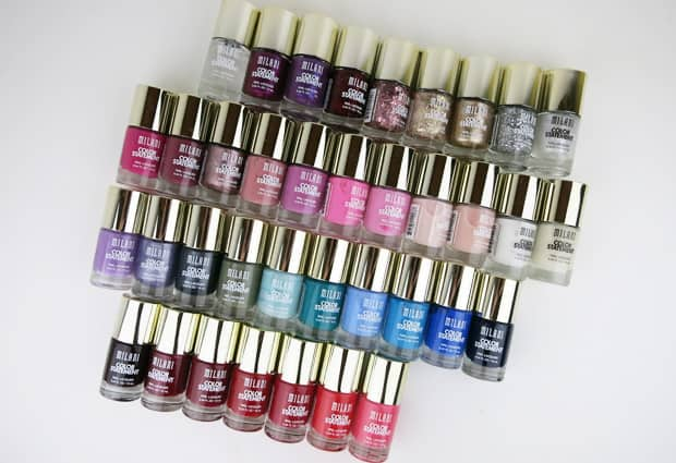 Milani Color Statement Nail lacquer swatches 2 Milani Color Statement Nail Lacquer Collection: Swatches and Review