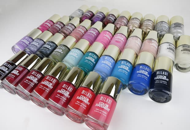 Milani Color Statement Nail lacquer swatches 3 Milani Color Statement Nail Lacquer Collection: Swatches and Review