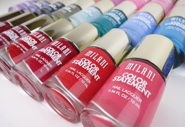 Milani Color Statement Nail lacquer swatches Milani Color Statement Nail Lacquer Collection: Swatches and Review