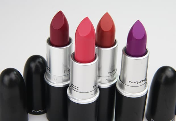 MAC matte lipstick swatches 1 MAC: Bringing Sexy Matte Lips Back