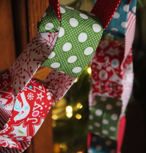 DIY Christmas Garland 13 Holiday DIY: Christmas Fabric Garland