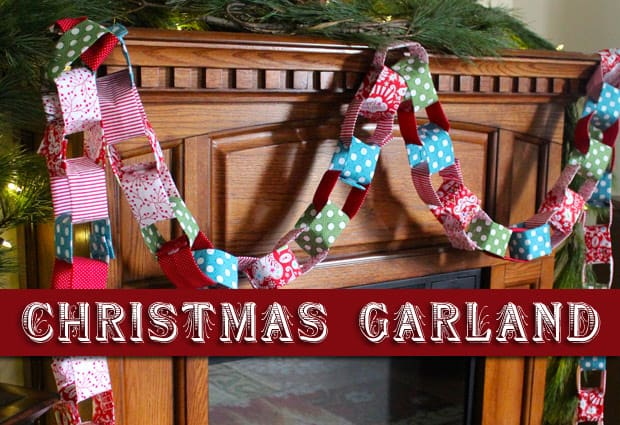 DIY Christmas Garland into Holiday DIY: Christmas Fabric Garland
