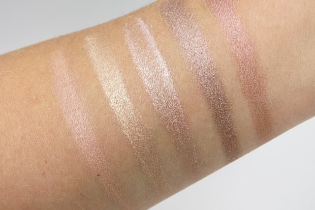 bareMinerals Two for the Show swatches and review