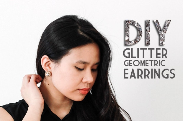 DIY Glitter Geometric Earrings INTRO DIY Jewelry Project: Glitter Geometric Earrings