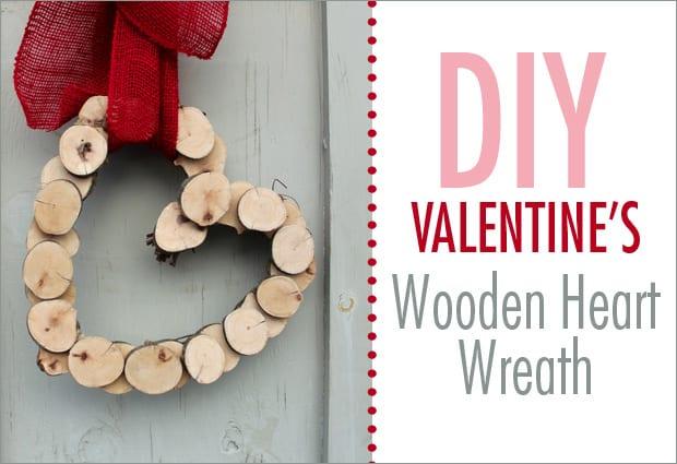 DIY: Valentine's Wooden Heart Wreath