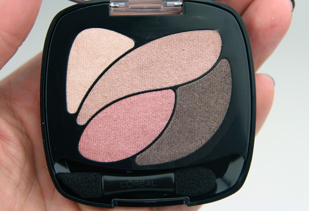 Loreal colour riche eye shadow Rose nude 5 LOreal Colour Riche Ombre Quad swatches and looks   PIC HEAVY