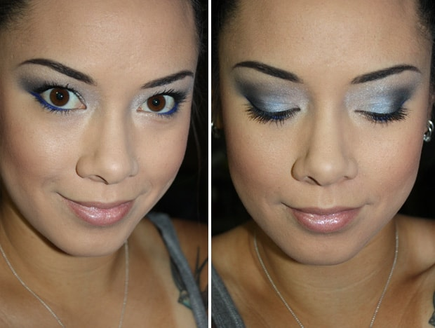 Loreal colour riche eye shadow eternal blue LOreal Colour Riche Ombre Quad swatches and looks   PIC HEAVY