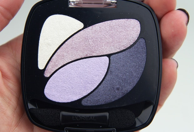 Loreal colour riche eye shadow unforgettable lilac 11 LOreal Colour Riche Ombre Quad swatches and looks   PIC HEAVY
