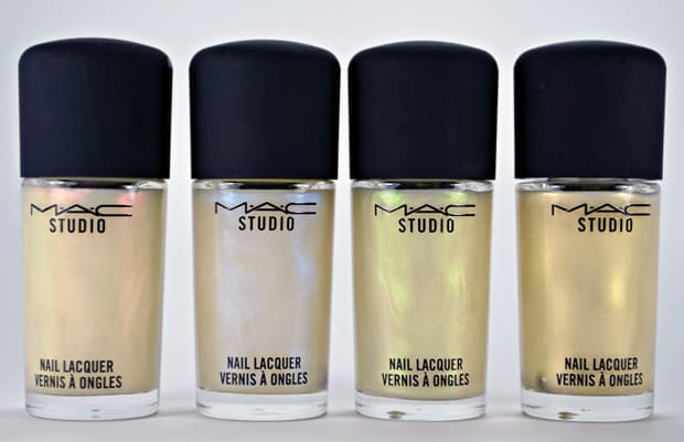 MAC Studio nail lacquer Pearls 4 MAC Nail Transformations Swatches and Review