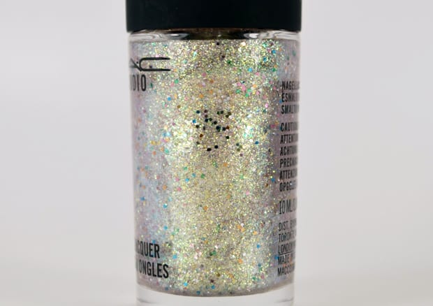 MAC Studio nail lacquer silver dew topper 16 MAC Nail Transformations Swatches and Review
