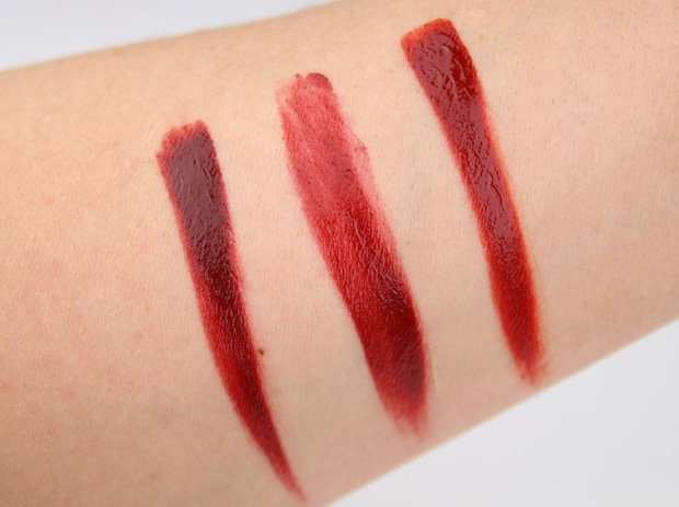 Ellis Faas Red Lips swatches D Whats New at The Makeup Show LA 2015