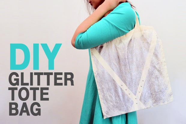 Easy DIY Project: Glitter Tote Bag