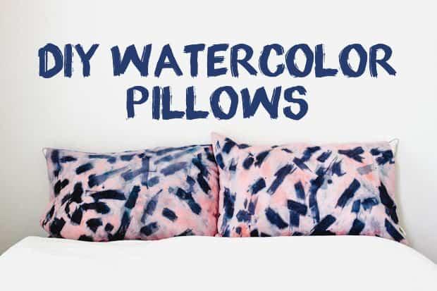 DIY Watercolor Pillows 08 Easy DIY Projects: Watercolor Pillowcases