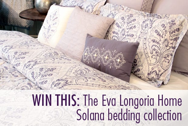 GIVEAWAY: Eva Longoria Home bedding and window treatments (a $595 value!)