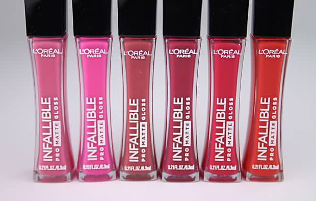 The newest drugstore makeup must-haves from We Heart This: The L'Oreal Infallible Pro Matte Gloss collection with swatches and a review.