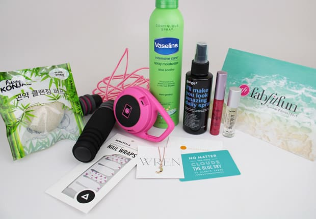 Fab Fit Fun summer 2015 contents 2 FabFitFun Summer 2015 Box review