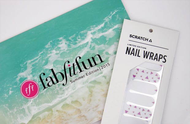 Fab Fit Fun summer 2015 contents scratch nail wraps 12 FabFitFun Summer 2015 Box review